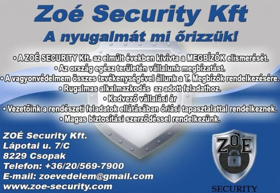 ZOÉ SECURITY Kft.